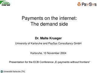 Payments on the internet:  The demand side