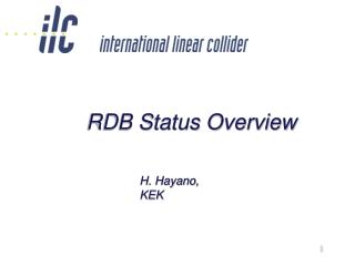 RDB Status Overview