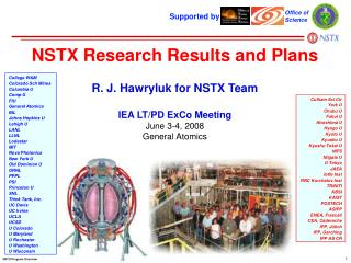 NSTX Research Results and Plans