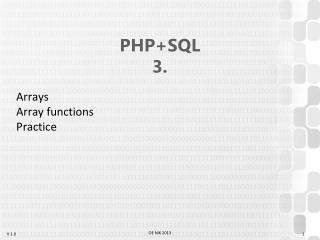 PHP+SQL 3.