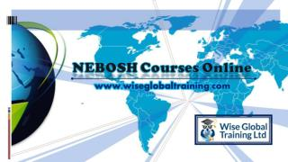 NEBOSH Courses Online
