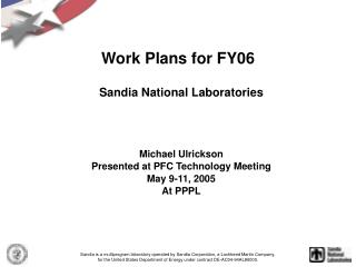 Work Plans for FY06