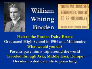 William  Whiting  Borden