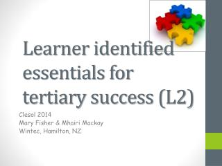 Learner identified essentials for tertiary success (L2)