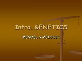 Intro…GENETICS