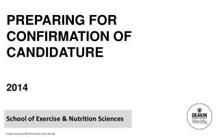 Preparing for Confirmation of  Candidature 2014