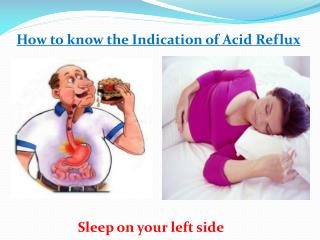 How to know the Indication of Acid Reflux
