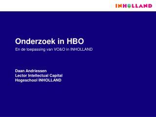 Onderzoek in HBO