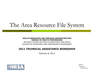 The Area Resource File System