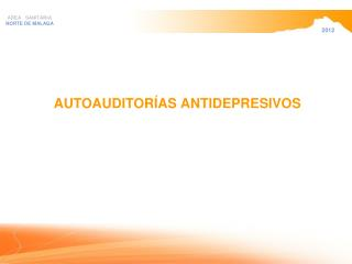 AUTOAUDITORÍAS ANTIDEPRESIVOS