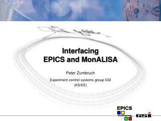 Interfacing  EPICS and MonALISA