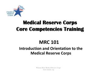 Medical Reserve Corps   Core Competencies Training