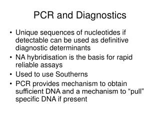PCR and Diagnostics
