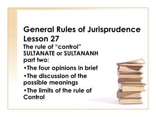 General Rules of Jurisprudence Lesson 27