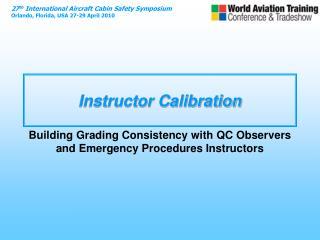 Instructor Calibration