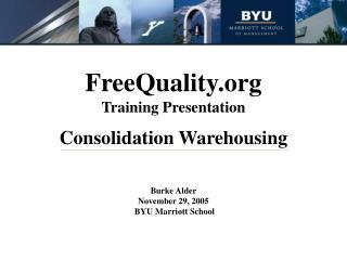 FreeQuality Training Presentation