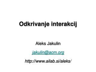 Odkrivanje interakcij