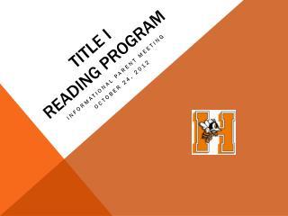 TITLE I Reading program