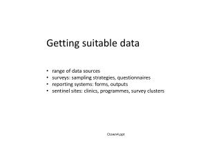 Getting suitable data