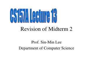 Revision of Midterm 2