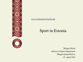 Sport in Estonia