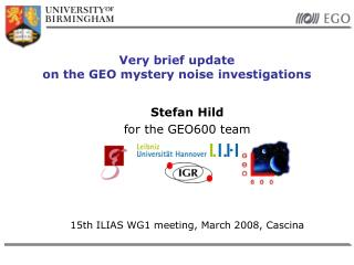 Very brief update  on the GEO mystery noise investigations