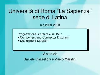 """Università di Roma """"La Sapienza"""" sede di Latina"""