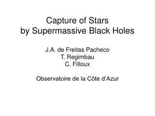 Main Ideas (dynamics of black holes in globular clusters and …how to power QSOs)