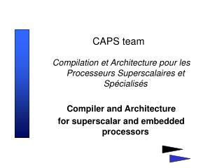 CAPS team