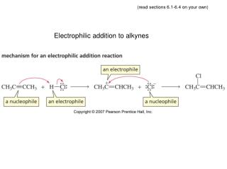 Electrophilic addition to alkynes