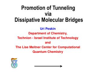 Promotion of Tunneling  via  Dissipative Molecular Bridges