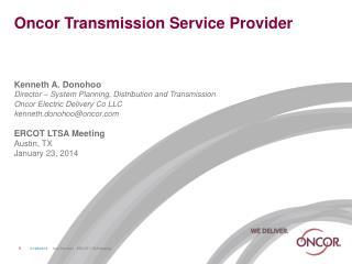 Oncor Transmission Service Provider