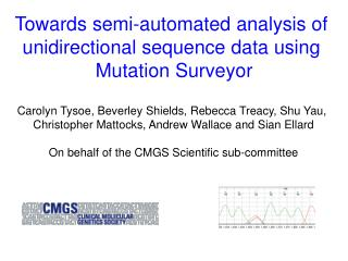 Towards semi-automated analysis of  unidirectional sequence data using  Mutation Surveyor