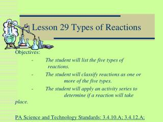 Lesson 29 Types of Reactions