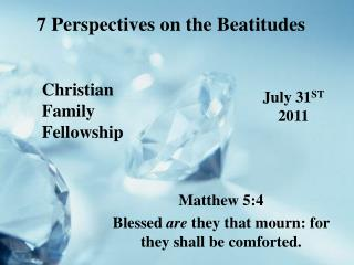7 Perspectives on the Beatitudes