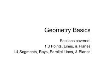 Geometry Basics