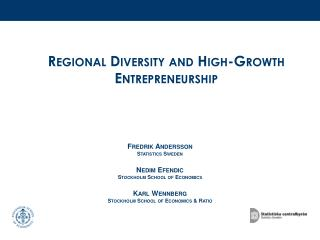 Regional Diversity and High-Growth Entrepreneurship