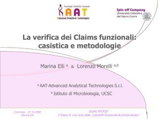 La verifica dei Claims funzionali: casistica e metodologie