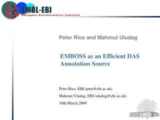 Peter Rice and Mahmut Uludag