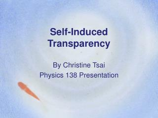 Self-Induced Transparency
