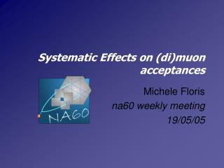 Systematic Effects on (di)muon acceptances