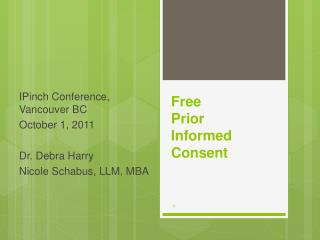 Free  Prior Informed Consent