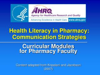 Health Literacy in Pharmacy: Communication Strategies