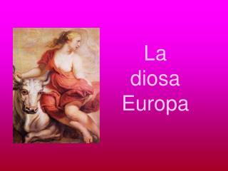 La diosa Europa