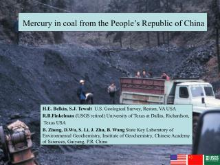 Mercury in coal from the People's Republic of China