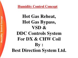 Humidity Control Concept