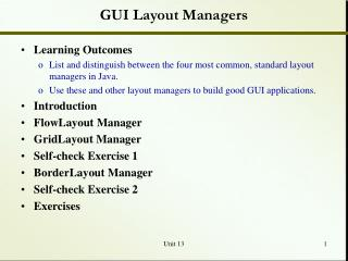 GUI Layout Managers