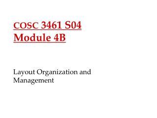 COSC  3461 S04 Module 4B