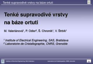 Tenké supravodivé vrstvy na báze ortuti