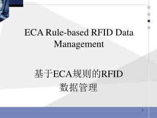 ECA Rule-based RFID Data Management